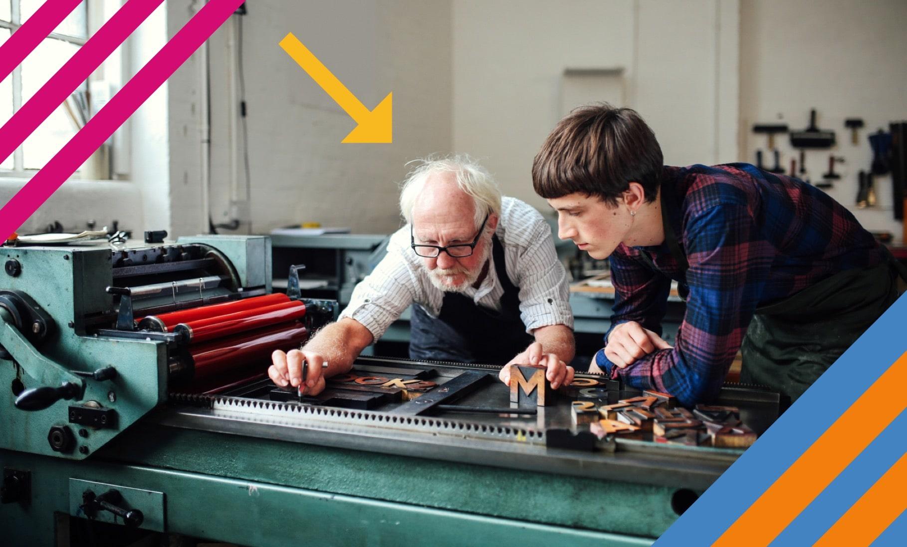 Opa als Azubi-Coach: Erfolgversprechender Generationsaustausch - DAK-Gesundheit