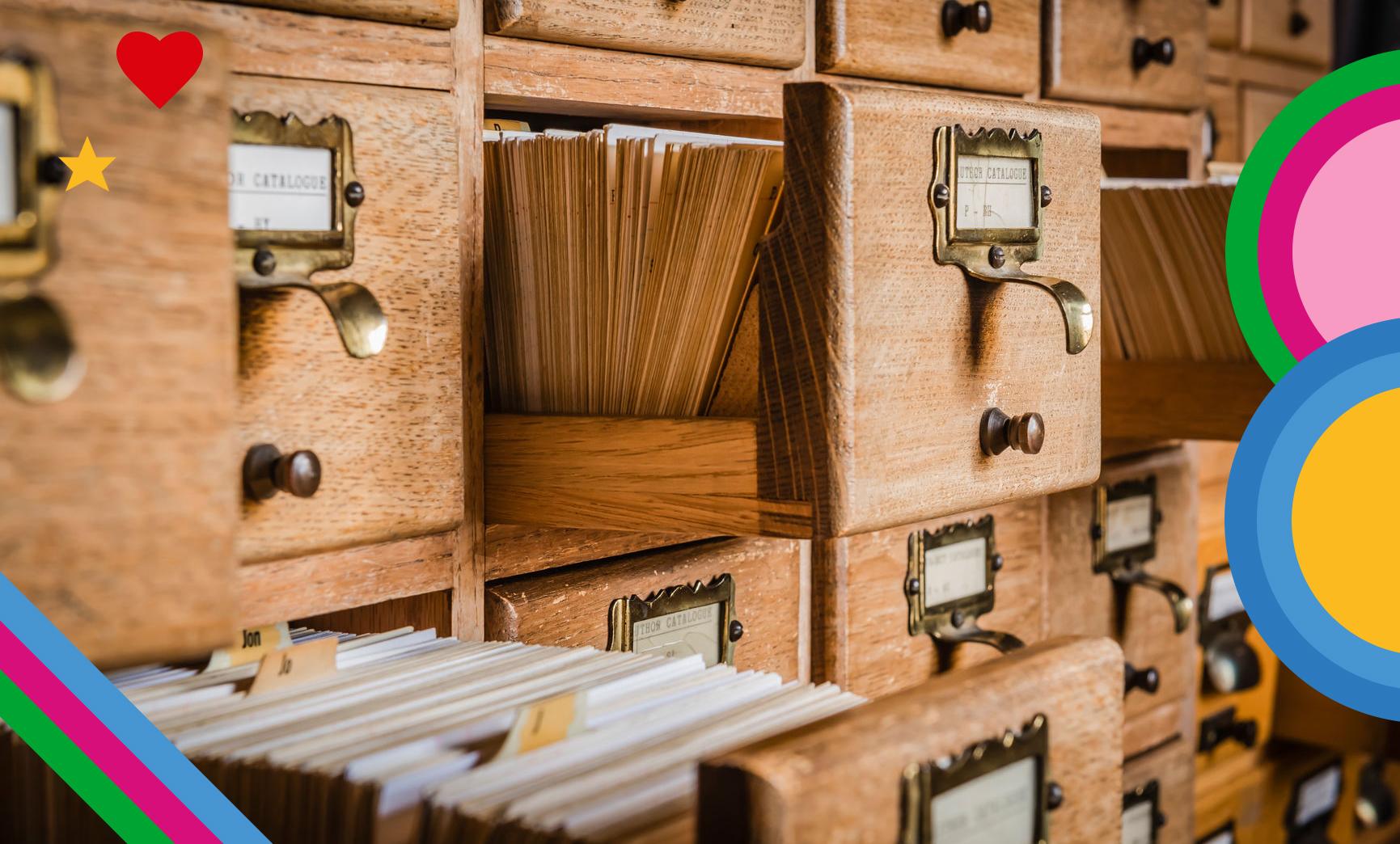 Offene Dokumentenschublade