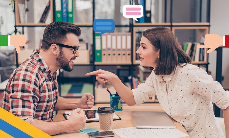Mann und Frau streiten sich