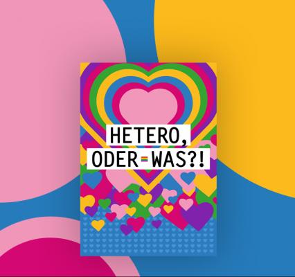 """Motiv zum Thema Toleranz mit dem Titel """"Hetero, oder was ?! - Lesbisch? Schwul? Von allem etwas? Egal! Denn jeder sollte so sein dürfen, wie er ist. Alles andere wäre ja krank."""""""